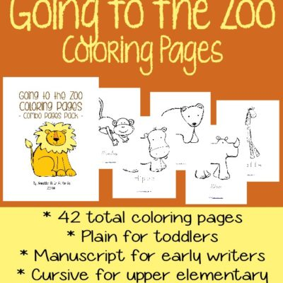 Going to the Zoo Coloring Pages {free printables}