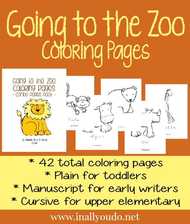 Going To The Zoo Coloring Pages In All You Do