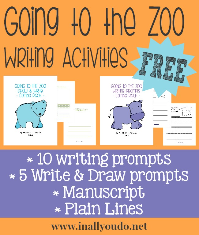 FREE Going to the Zoo Writing Activities