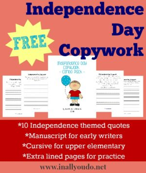 Independence Day Copywork