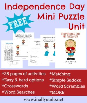 Independence Day Puzzles & Activities