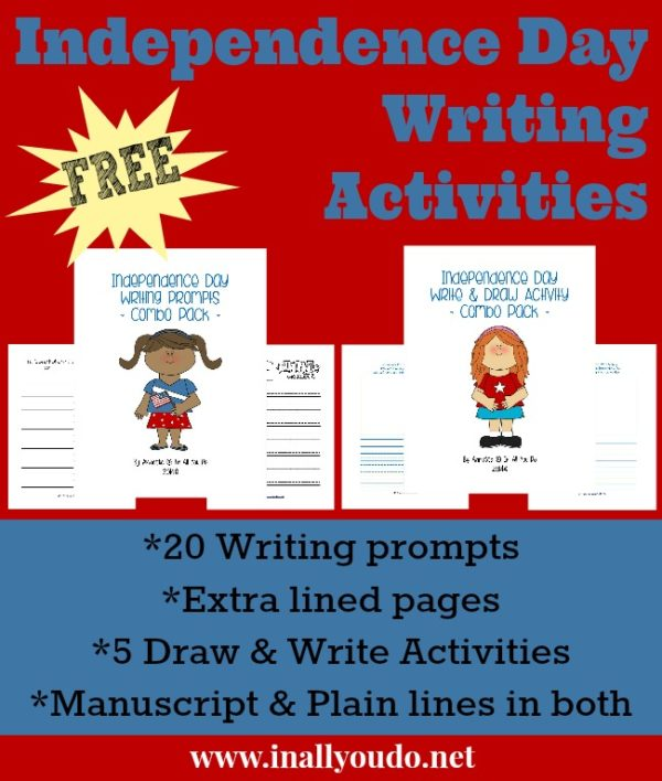 Summer may be here, but Independence Day is the perfect time to stretch their creativity with these 20 writing prompts any kid would love. :: www.inallyoudo.net