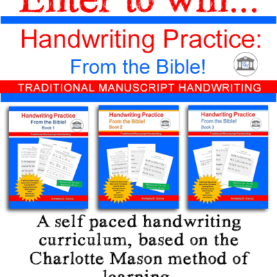 {giveaway} Handwriting Practice: From the Bible!