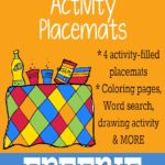 Going on a A Picnic {free} Activity Placemats