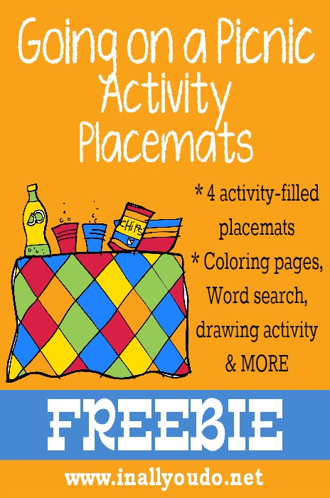 Going on a Picnic Activity Placemats FREEBIE
