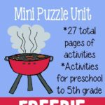 {free} Going on a Picnic Mini Puzzle Unit