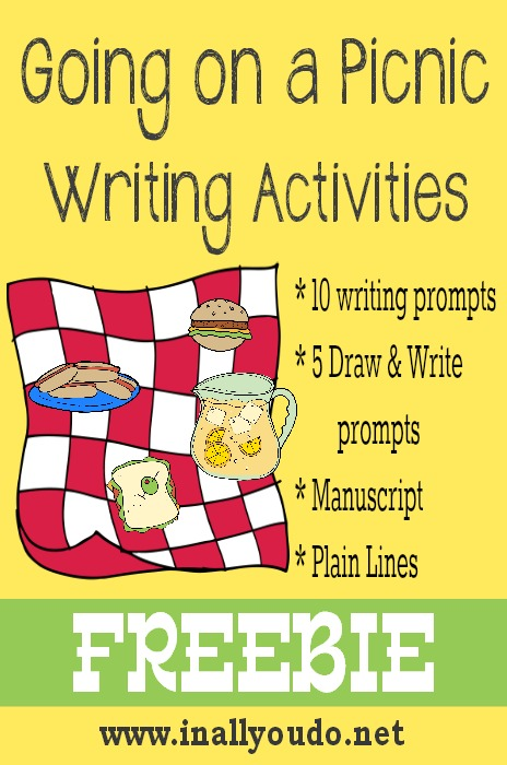 Going on a Picnic Writing Activities FREEBIE
