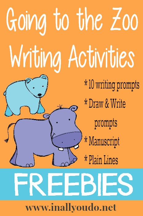 Going to the Zoo Writing Activities FREEBIE