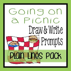 {free} Going on a Picnic Writing Activities