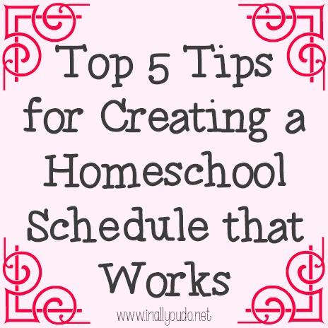 5 tips create homeschool schedule