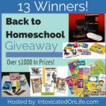 Back to Homeschool Giveaway ~ 13 Winners!!!
