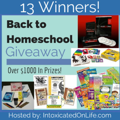 Back to Homeschool Giveaway ~ 13 Winners!!!