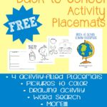 Back-to-School Activity Placemats