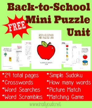 Back to School Puzzles & Activities
