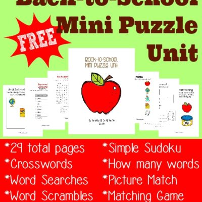 Back-to-School Mini Puzzle Unit