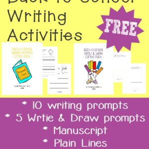 Kids will love telling all about their summer and what they're excited for with these writing prompts, as they return to school. :: www.inallyoudo.net