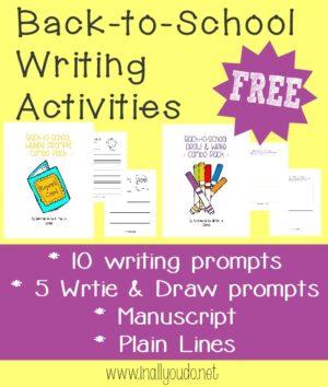 Back-to-School Writing Activities