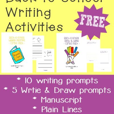 Back-to-School Writing Activity Printables