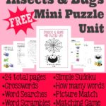 Insects & Bugs Mini Puzzle Unit