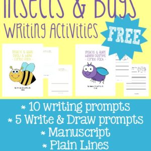 Help kids work on their creativity with these 10 Camping themed writing prompts and 5 Draw & Write prompts in both dotted-manuscript lines and plain lines.