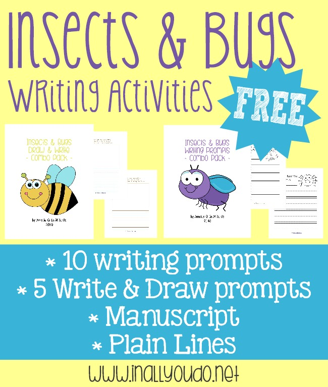 FREE Insects & Bugs Writing Activities