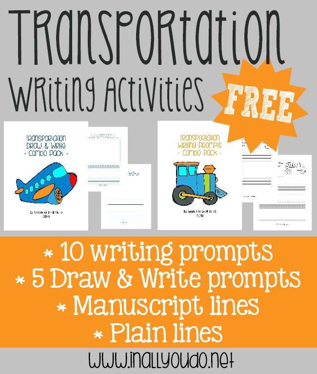 FREE Transportation Writing Activities