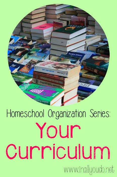 Homeschool Curriculum Organization