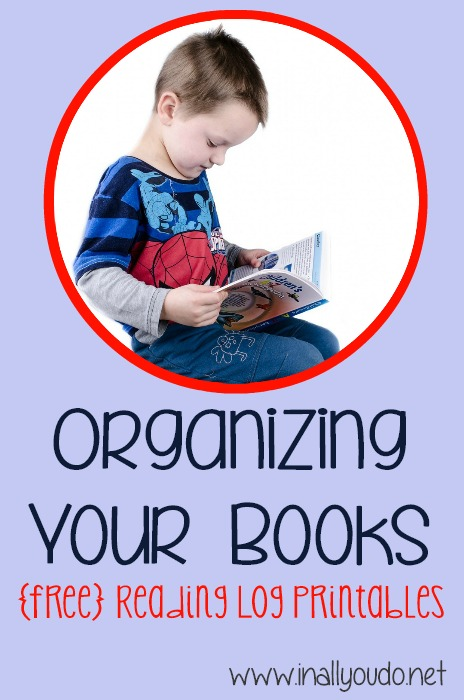 Organizing book FREE Reading log printables
