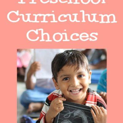 Preschool Curriculum Choices
