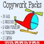 {free} Transportation Copywork printables