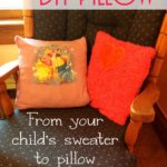 How to make a Pillow from clothes {DIY tutorial}