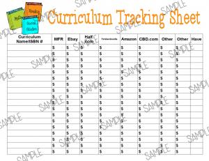 sample curriculum tracking1