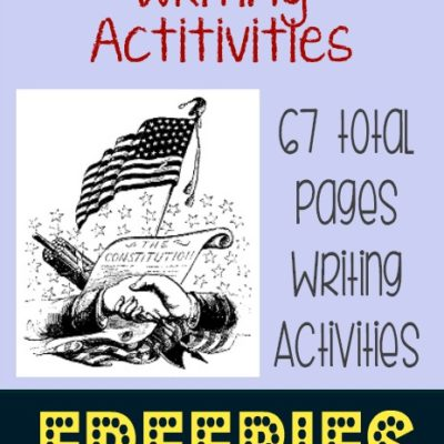 67 pgs Constitution Day Writing Activities {free}