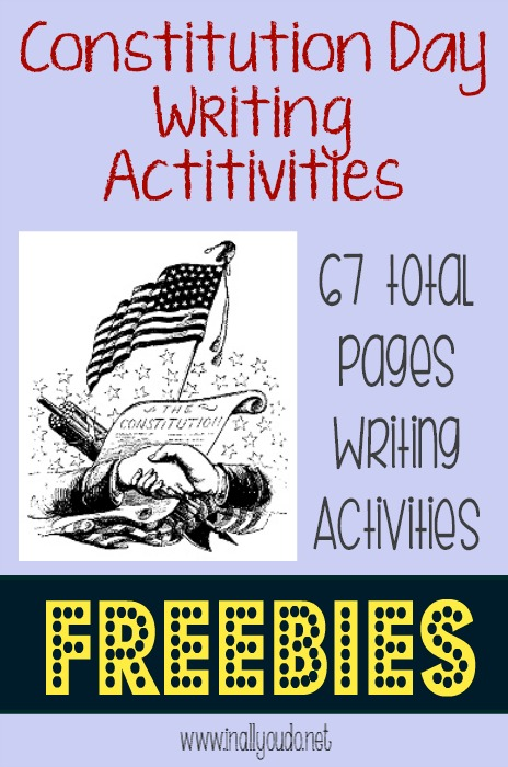 Constitution Day Writing Activities FREEBIES