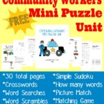 {free} Community Workers Mini Puzzle Unit