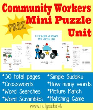 Community Workers Puzzles & Activities