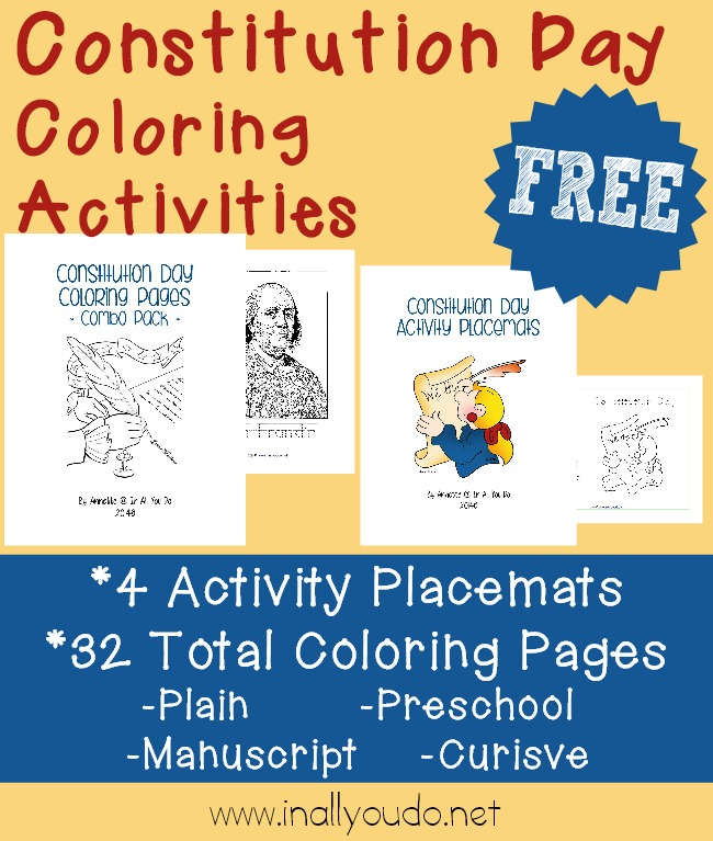 FREE Constitution Day Coloring Activities