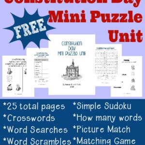Constitution Day Mini Puzzle Unit