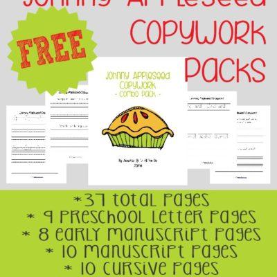 Johnny Appleseed Copywork Pack