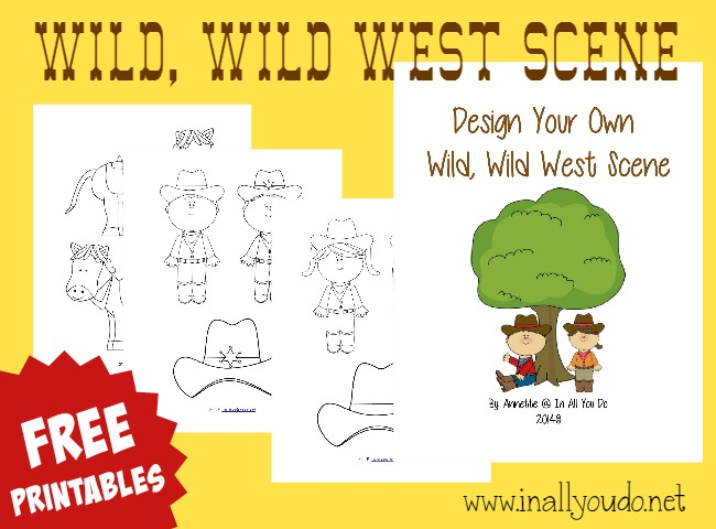 Kids will have fun creating their own Wild, Wild West Scene with these FREE printables!! :: www.inallyoudo.net