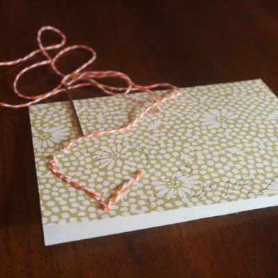 DIY Super Simple Embroidered Cards