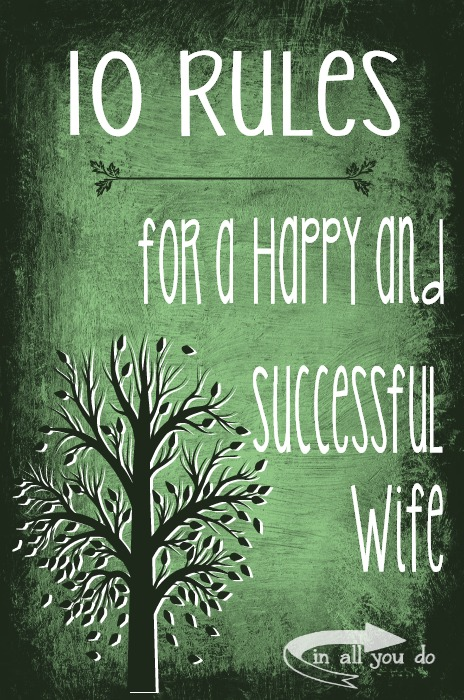 rules happy successful wife