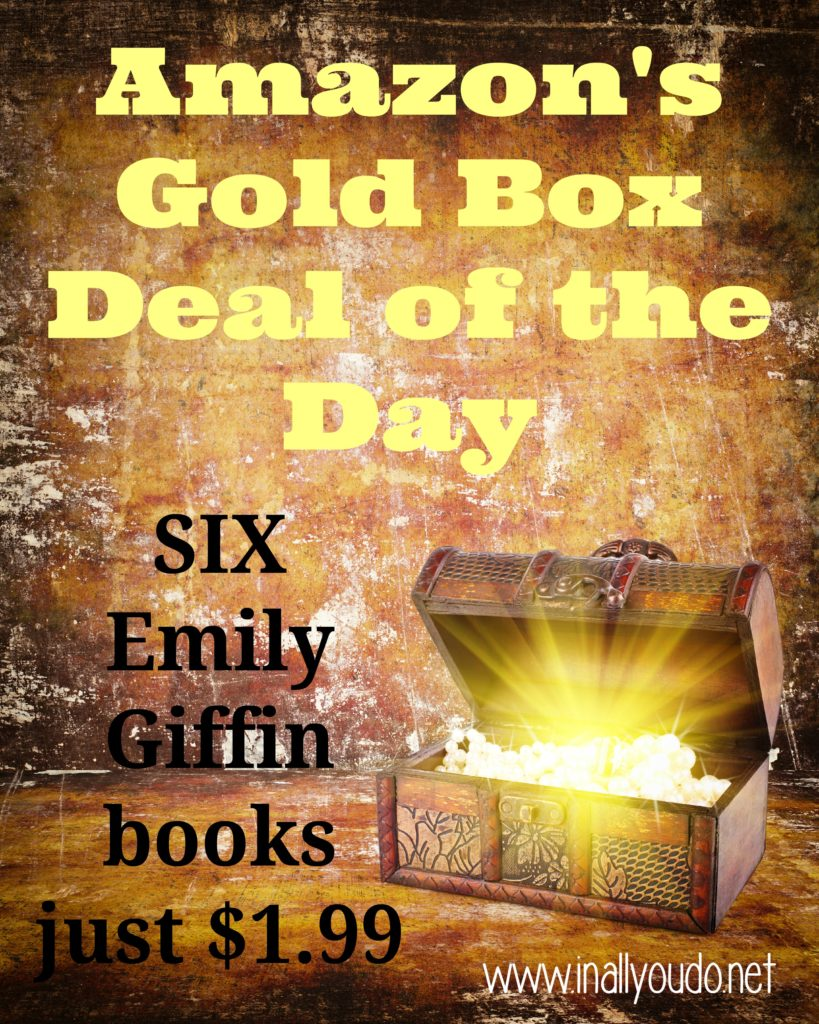TODAY ONLY you can grab 6 Emily Giffin books for just $1.99!!