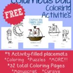 Columbus Day Coloring Activities