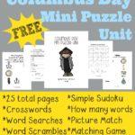 Columbus Day Mini Puzzle Unit