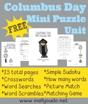 Christopher Columbus Mini Puzzle Pack