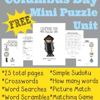 Columbus Day Mini Puzzle Unit