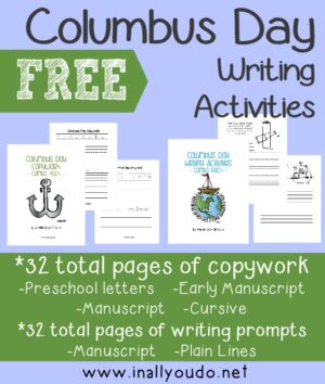 Christopher Columbus Writing Activities Pack