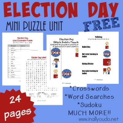 FREE Election Day Puzzles & Activities