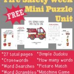 {free} Fire Safety Week Mini Puzzle Unit